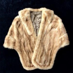 1950's Mink Fur Wrap